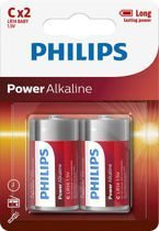 BATERIA PHILIPS LR14 1.5V (2 SZT.) POWER ALKALINE