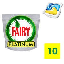 FAIRY Platinum Lemon kapsułki do zmywarek 10 szt.