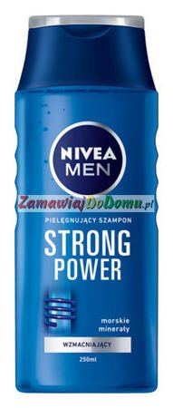 NIVEA MEN Strong Power szampon do włosów 250 ml